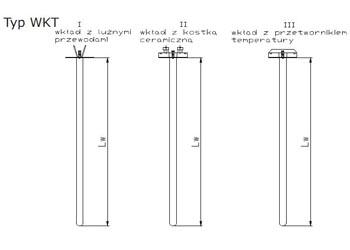 Termoelektryczny wkład pomiarowy typ WKT